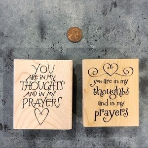 Thoughts and prayers Wooden Stamps for card making